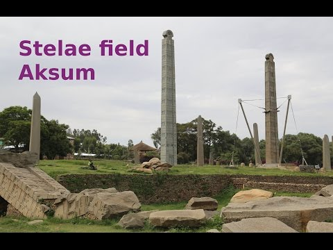 Stelae field in Axum: the remains of the Aksumite Empire