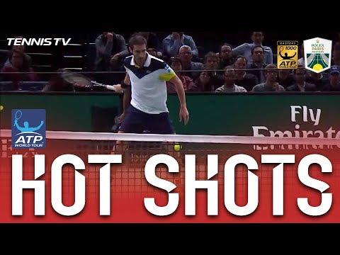 Cuevas Passes Nadal With A Tweener In Paris 2017 Hot Shot