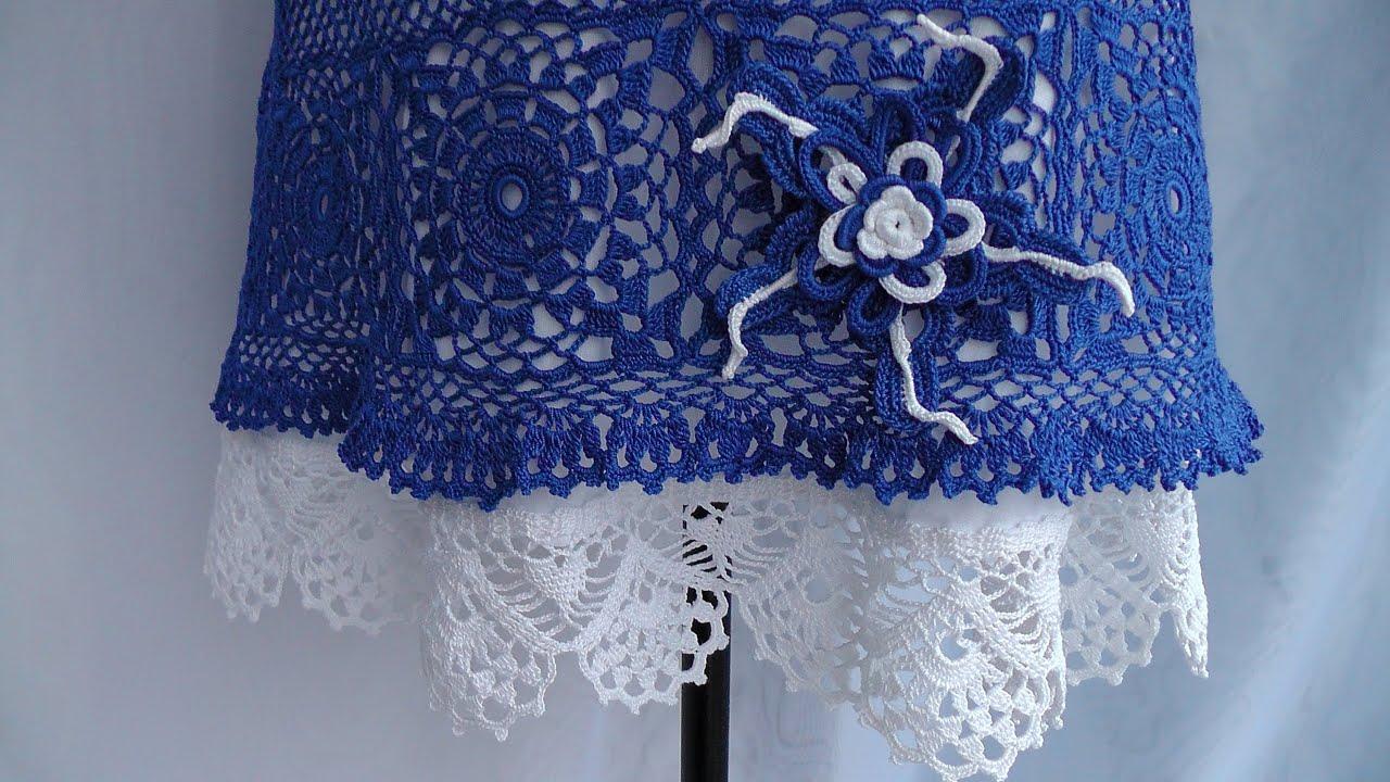 Вязание крючком кайма для юбки