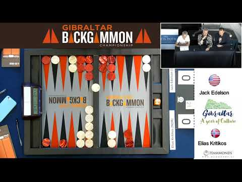 Gibraltar Backgammon 2018 FINAL Jack Edelson Vs Elias Kritikos 11 02 18