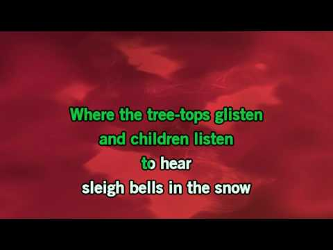 White Christmas Karaoke with baking vocals - Bing Crosby