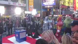 Ginger Zee showing Marvel Heroes being part of the Disney Infinity World