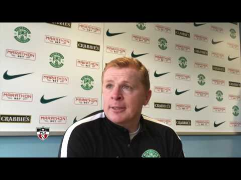 Post Match : Neil Lennon after a Hibs 2 - 1 win over Dunfermline