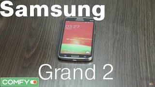 Samsung Galaxy Grand 2 DUOS - большой смартфон с низкой ценой - Обзор от Comfy.ua(Galaxy Grand 2 DUOS G7102 - бюджетная модель с от южнокорейского гиганта Samsung. Он выделяется большим экраном, диагональ..., 2015-02-12T13:12:14.000Z)
