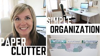Simple Paper Clutter Organization! | Minimalist Family Life (2018)
