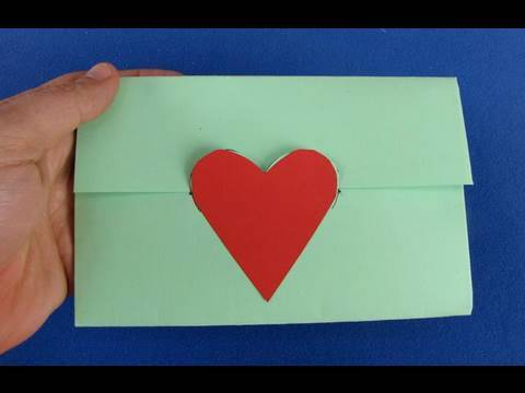 Busta da lettere origami envelope youtube - Come fare un porta lettere ...