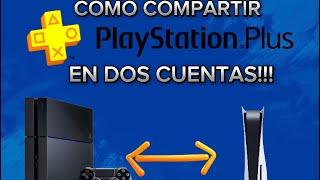 COMO COMPARTIR PLUS EN DOS CUENTAS PS4 2017