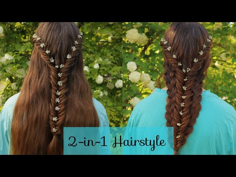 2-in-1 Easy Hairstyle for Long Hair | Merged Fishtail Braids | How to Braid Hairstyles thumbnail