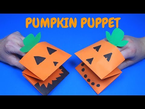 Easy Paper Pumpkin Puppet | Paper Craft for Kids