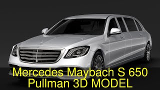 3D Model of Mercedes Maybach S 650 Pullman VV222 2018 Review