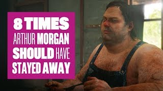 8 times Arthur Morgan should have kept his distance in Red Dead Redemption 2