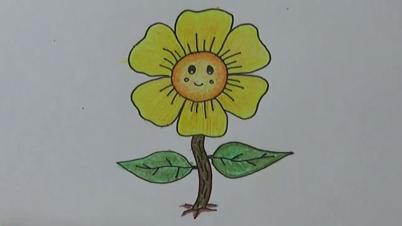 Terbaik 55+ Sketsa Gambar Bunga Kartun