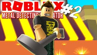 😱 LEVEL 65 AND THE RED AREA! -Roblox Metal Detecting Simulator English Ep 2