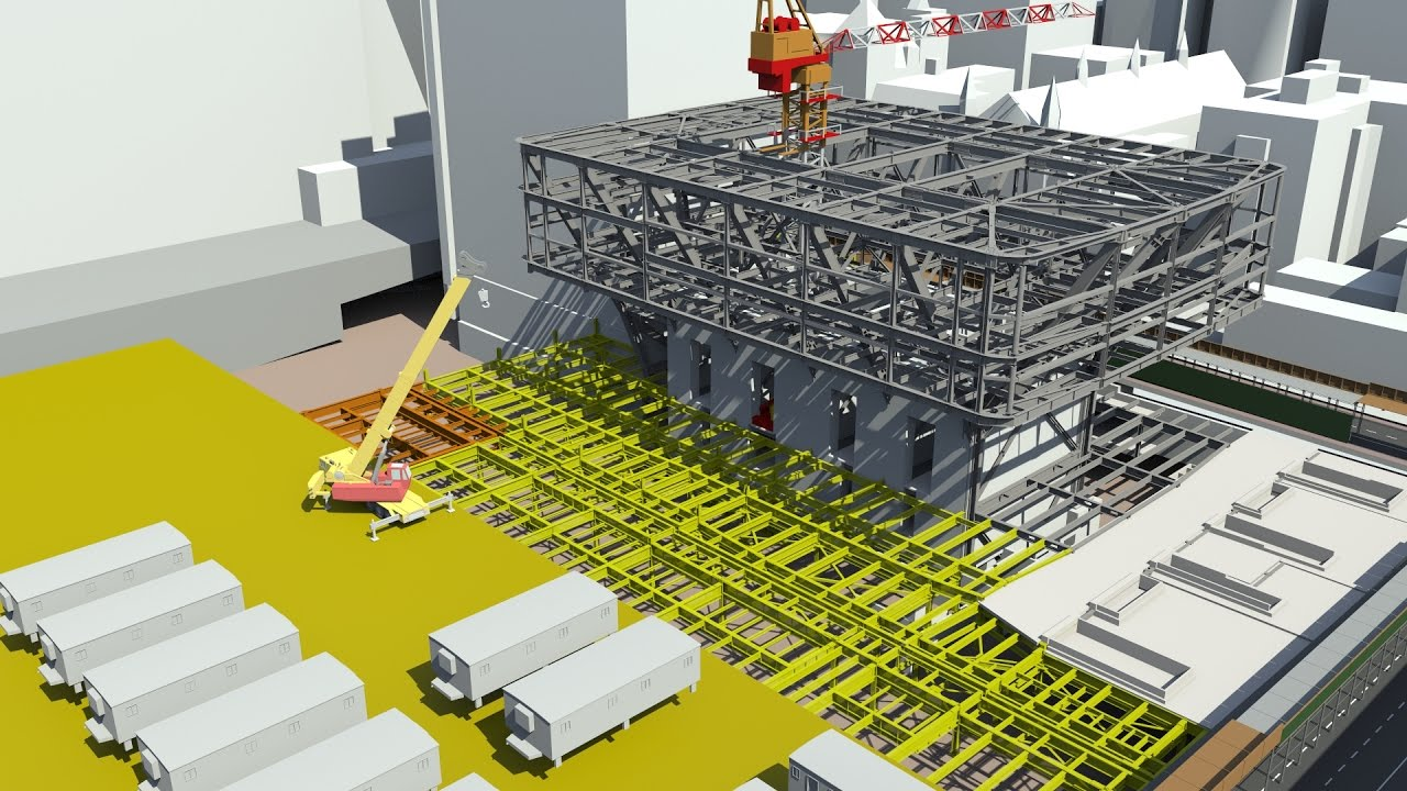 Synchro software 4d bim vdc construction project for Building site plan software