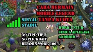 Tutorial Cara Main Mobile Legend Tanpa Kuota flash Internet 100% Work