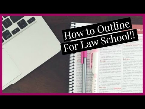 How to Outline | Law School Vlogs