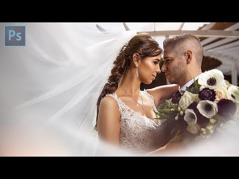 Creating An EPIC Bride And Groom Veil Shot In Photoshop - Speed Edit