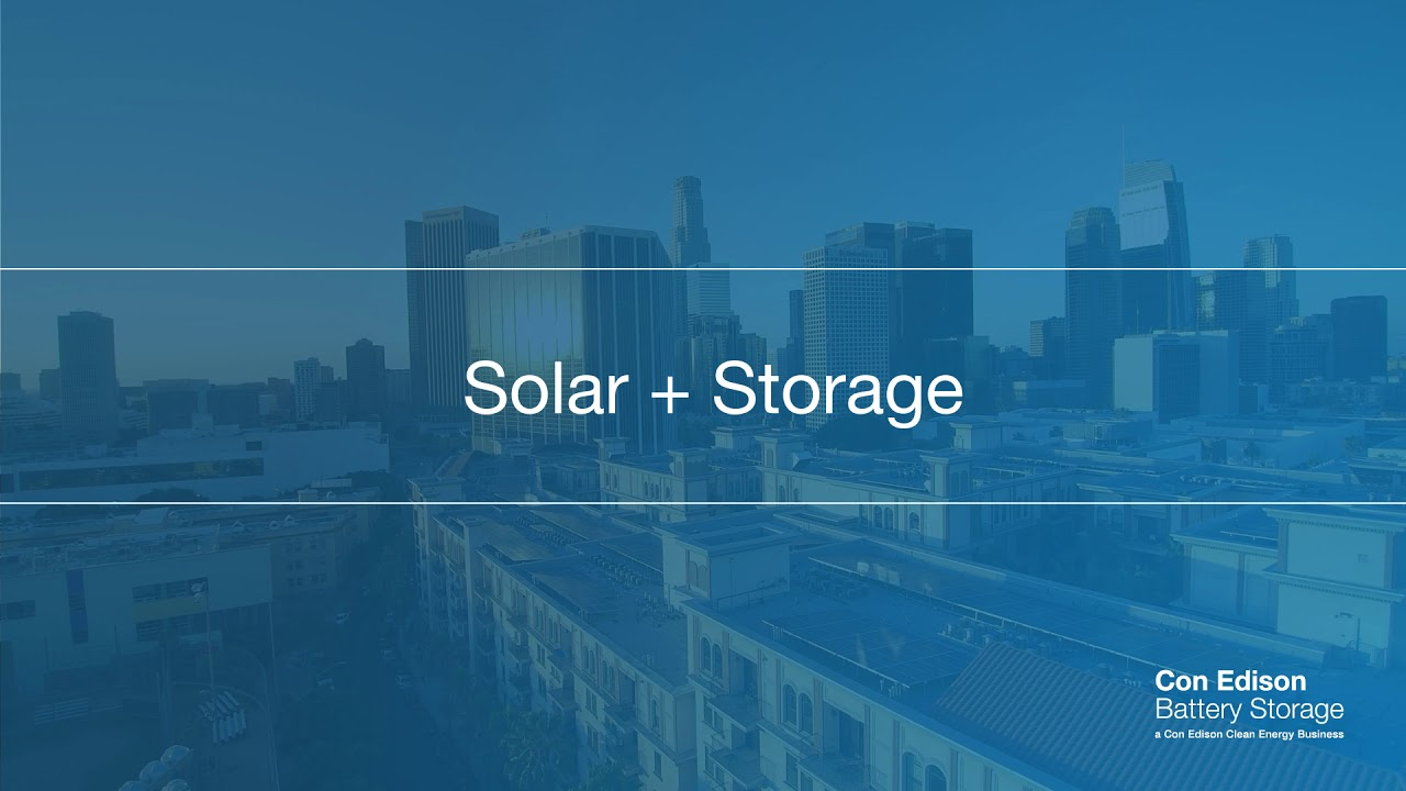 Con Edison Battery Storage and Solar