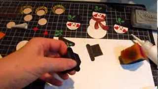 Snowman Punch Art tutorial