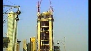 Baustelle Commerzbankhochhaus & Japan Tower, Frankfurt/Main, Germany,  22.01.1996.