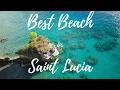 MOST BEAUTIFUL BEACH IN SAINT LUCIA CARIBBEAN ? 🌴🏝