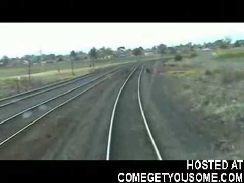 Playing chicken with a Train almost gets him KILLED