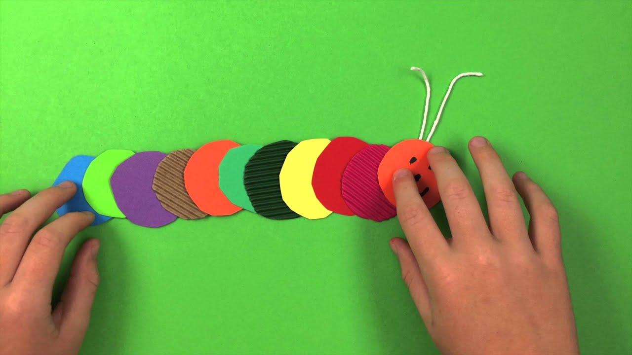 Make Caterpillar - Simple Preschool Arts And Crafts Kids