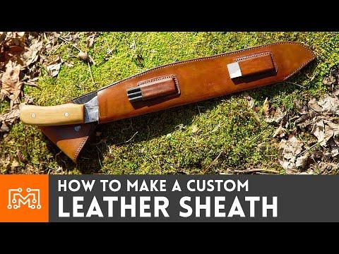 How to Make a Custom Leather Sheath // Leatherworking