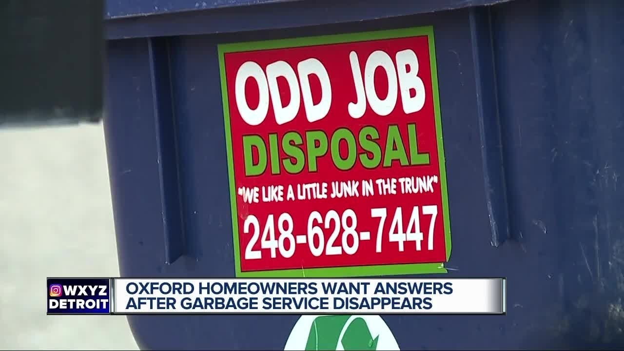 Oxford homeowners want answers after garbage service disappears