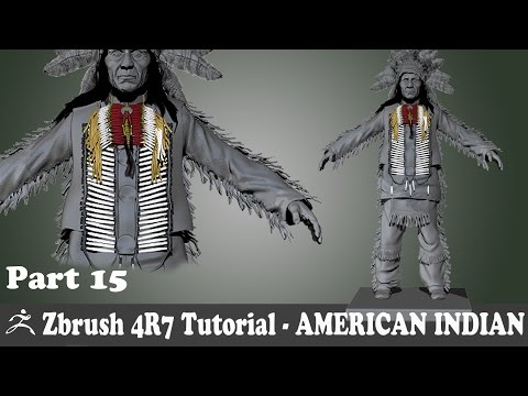 Video CGI TutorialsZBRUSH 4R7 - AMERICAN INDIAN CHARACTER MODELING - NEW BONE NECKLACE   -  PART 15