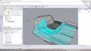 3D Scanned Mesh Machining In RhinoCAM 2017