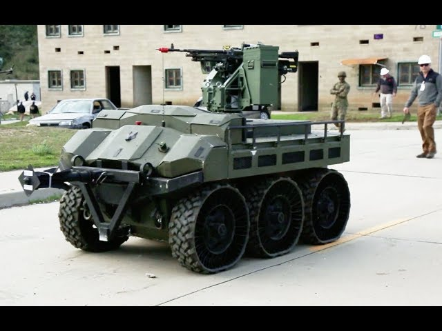 Armed 6-wheeled Unmanned Ground Vehicle concept for the U.S. Marines