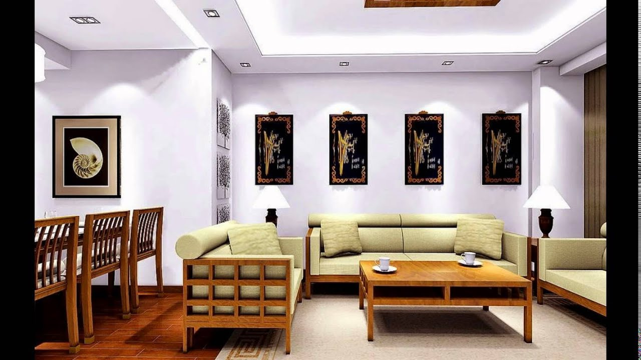 Ceiling designs for dining room youtube for Interior decoration living room roof