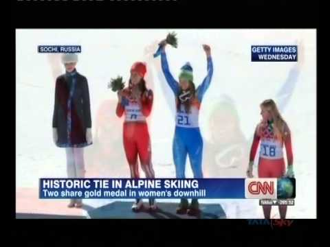 Sochi Olympic: Dominique Gisin, Tina Maze share women's downhill gold medal