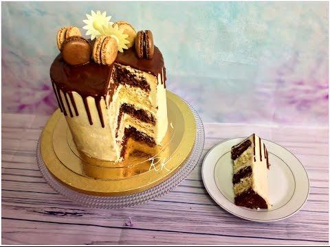 gâteau-au-yaourt,-drip-cake,-ganache-au-chocolat