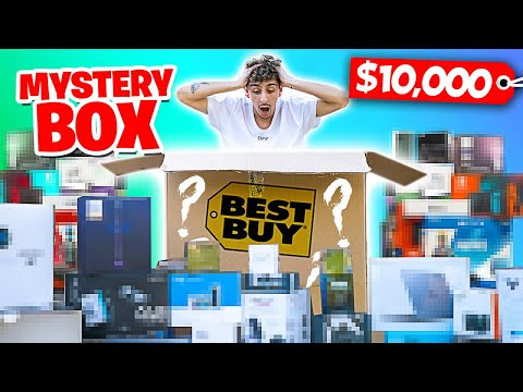 I Bought A $10,000 Mystery Box From Best Buy... (HUGE GIVEAWAY)