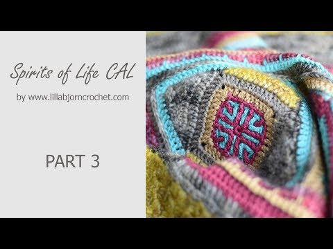 Spirits of Life CAL: Part 3 (overlay crochet square)