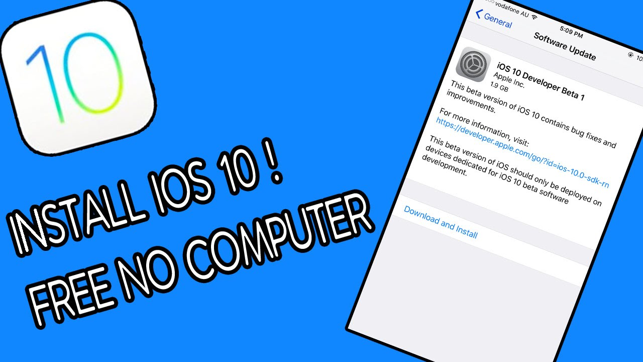 How To Install iOS 10 Beta 3 FREE No Computer // iPhone, iPod, iPad