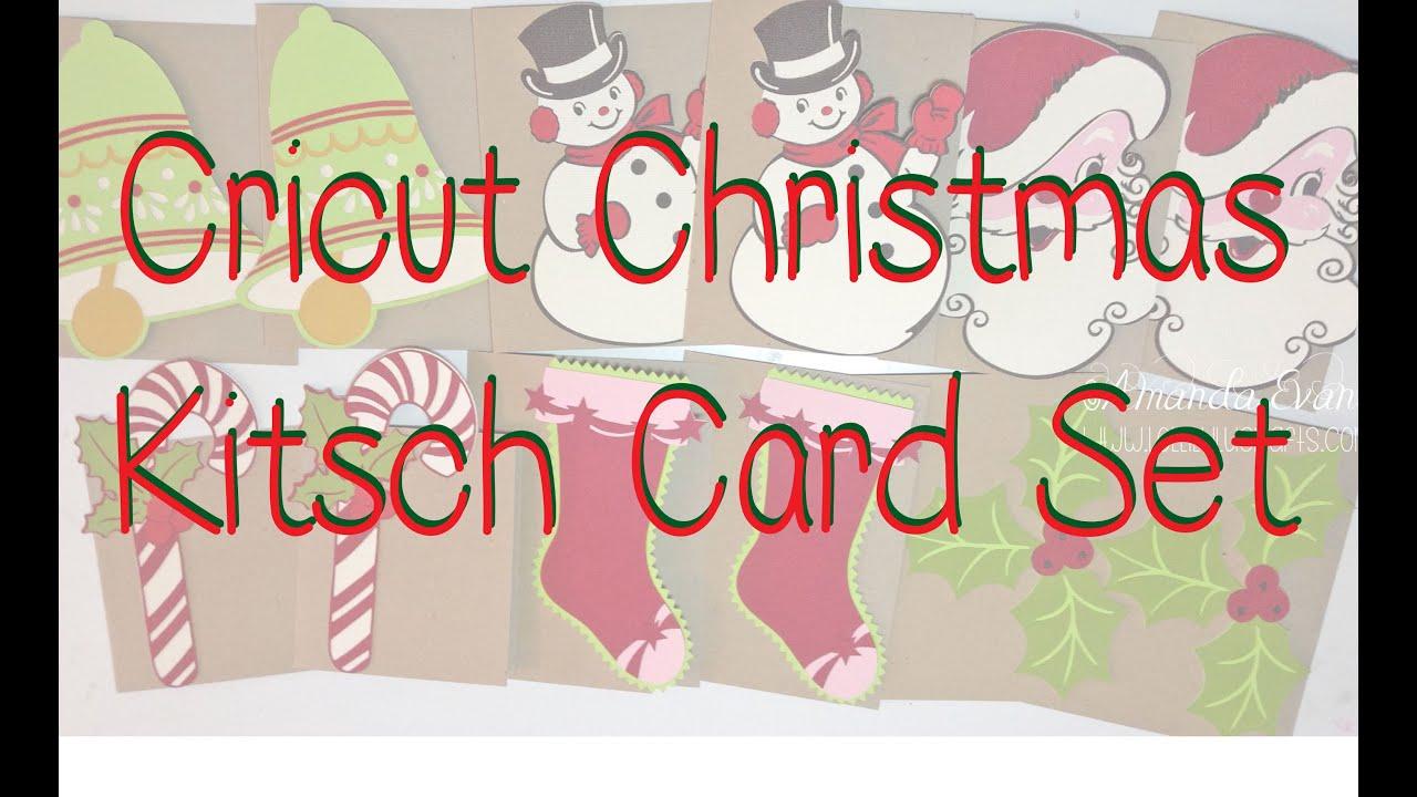 Cricut Explore Anna Griffin Christmas Kitsch Card Sets