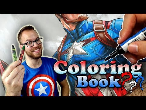 Professional Artist Colors A CHILDRENS Coloring Book..? | Captain America | 6