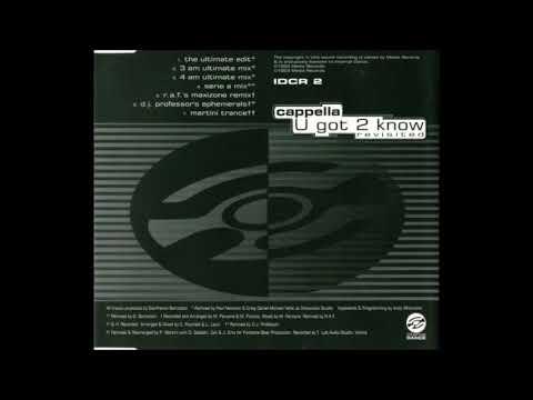 Cappella - U Got 2 Know (Revisited)