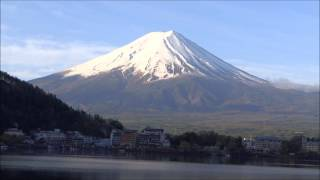 Reflection of Beautiful Mount FUJI on Lake Kawaguchi...HanShan Temple Bells PEACE Music !