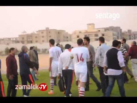 احمد جعفر يدعب فييرا ويطالبه بمكافاءه هدف الفوز