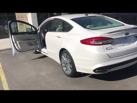 2017 ford fusion titanium white platinum exterior. Black Bedroom Furniture Sets. Home Design Ideas