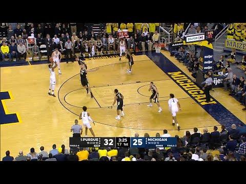 Big Ten Basketball Highlights: Purdue at Michigan