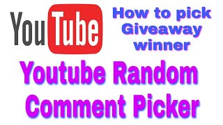 HOW DOES YOUTUBE RANDOM COMMENT PICKER WORK..? || Giveaway Winner Selection by Random Comments