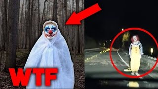 10 CLOWN STRANI E SPAVENTOSI ripresi in video