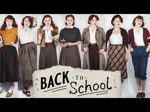 """7 """"Back To School"""" Vintage Outfits!"""