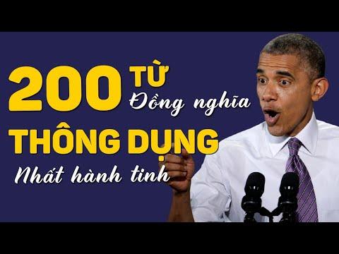 200 TỪ ĐỒNG NGHĨA THÔNG DỤNG NHẤT HÀNH TINH - Học Tiếng Anh Online (Trực Tuyến)
