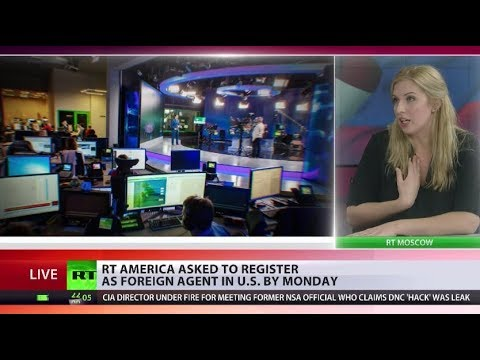 US orders RT America to register as foreign agent by Monday